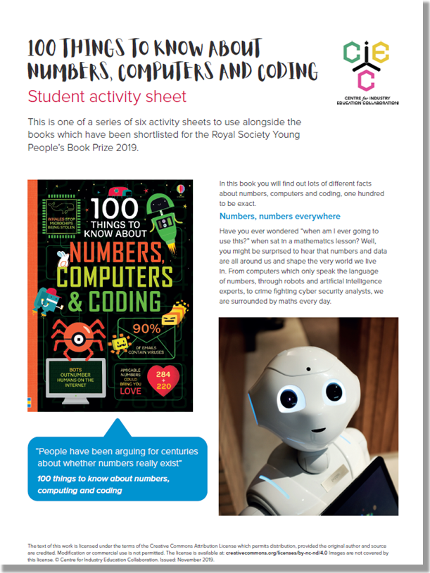 100 Things to Know about Numbers, Computers and Coding Document Picture